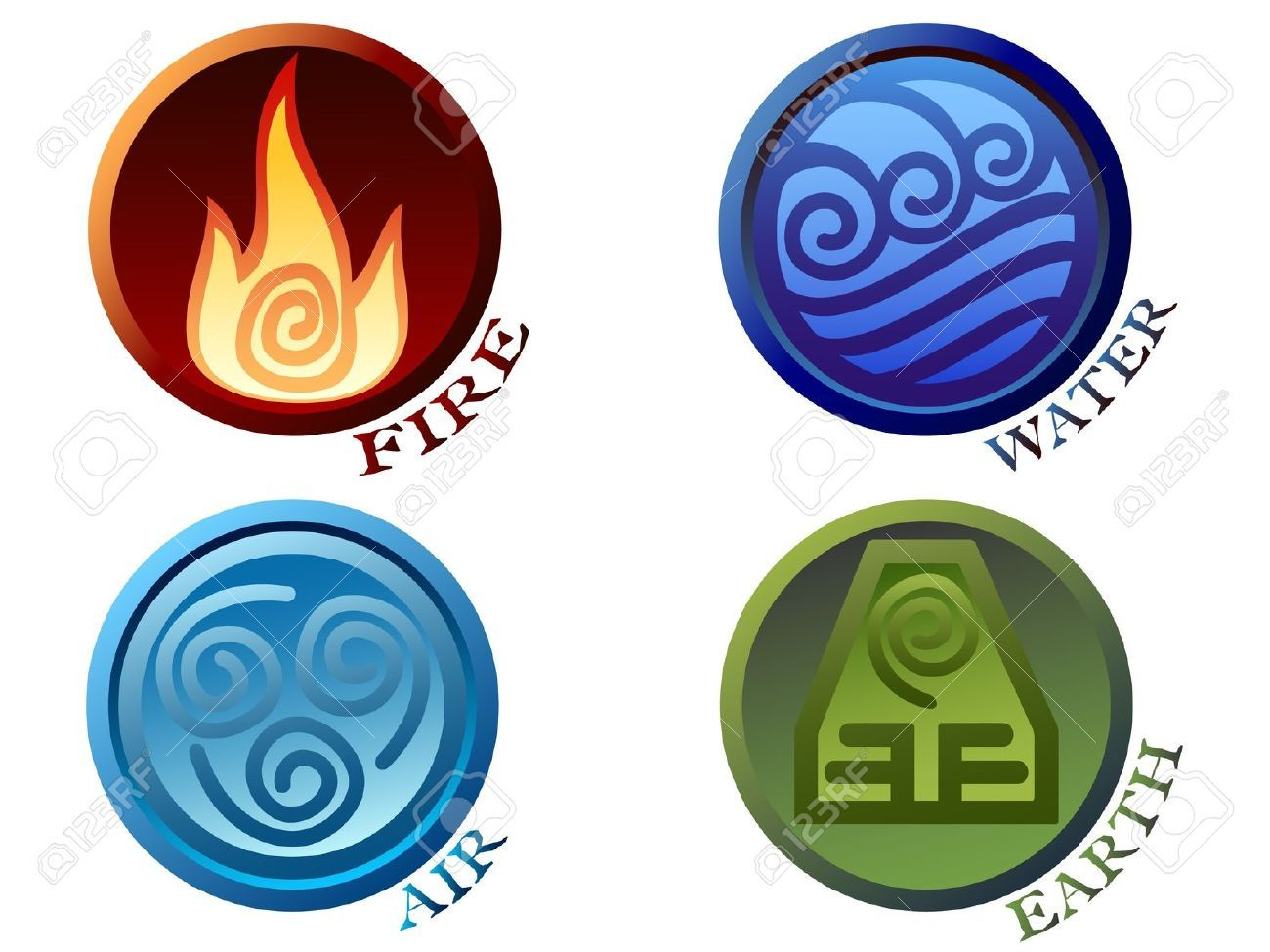 4 elements clipart free png freeuse download Four Elements Stock Illustrations, Cliparts And Royalty Free Four ... png freeuse download