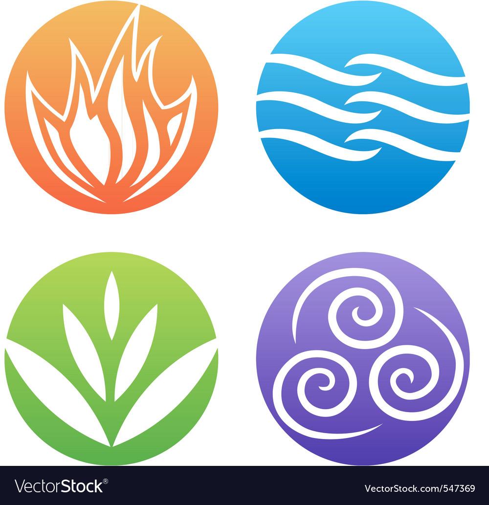 4 elements clipart free banner transparent download Symbols of four elements banner transparent download