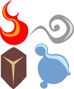 The elements clipart png freeuse stock Symbolic Four Elements Clip Art at Clker.com - vector clip art ... png freeuse stock
