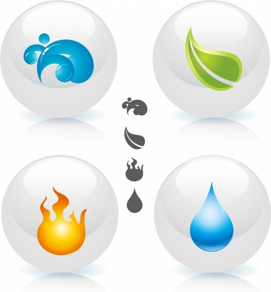 4 elements clipart free royalty free Four Elements Of Nature Free vector in Adobe Illustrator ai ( .AI ... royalty free