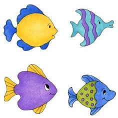 4 fishes clipart