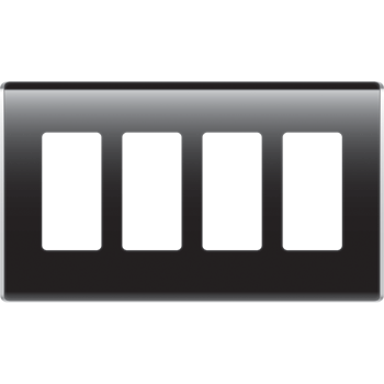 4 gang light switch clipart image library library 4-Gang Studio Wall Plate, Gloss Black - WP5004-GB | Legrand image library library