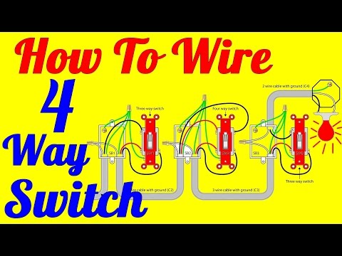 4 gang light switch clipart image download 4 Way light Switch Wiring Diagram (How To Install) - YouTube image download