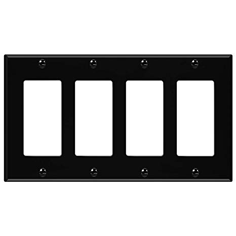 4 gang light switch clipart jpg black and white ENERLITES Decorator Light Switch or Receptacle Outlet Wall Plate ... jpg black and white