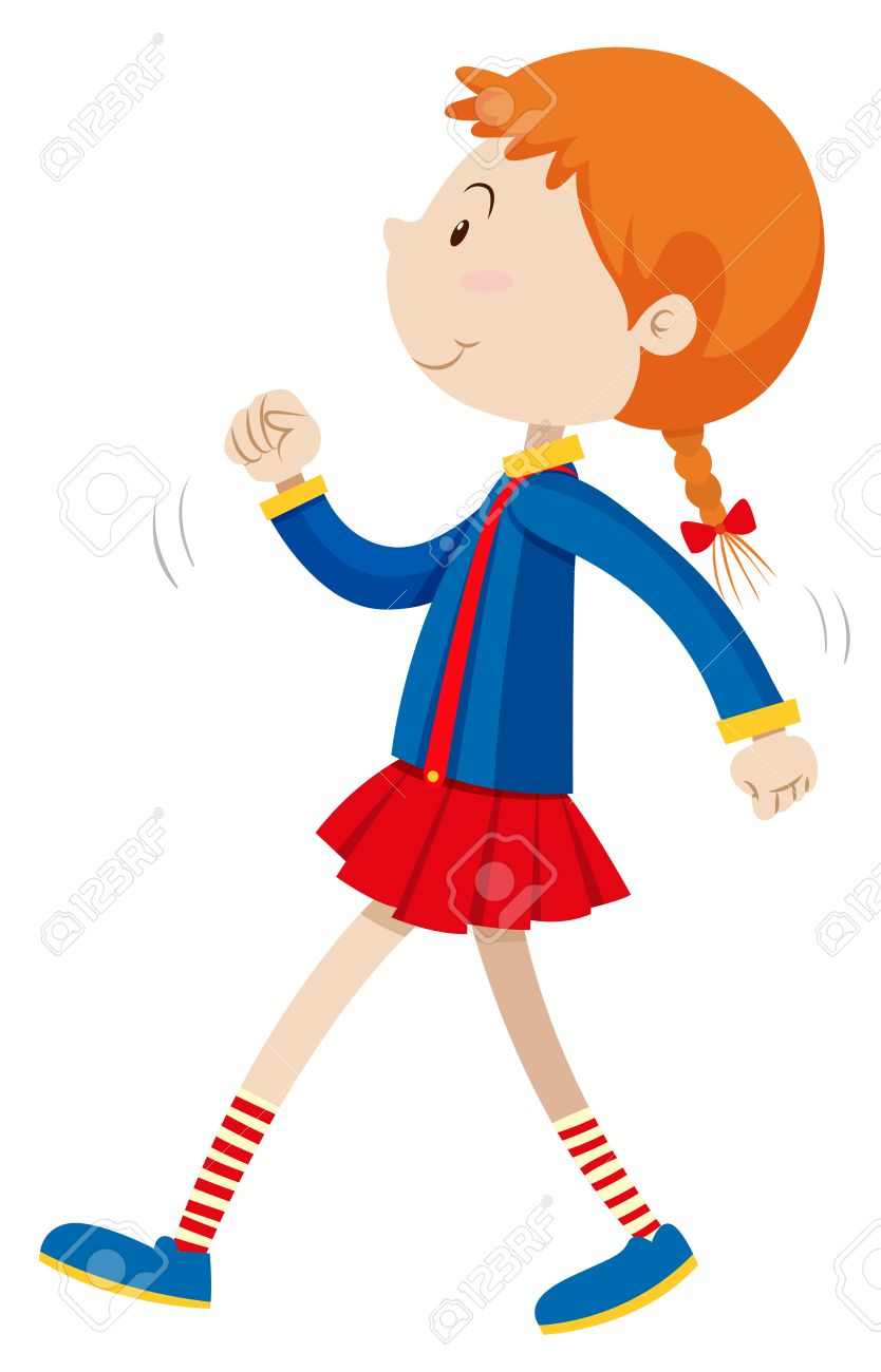 4 girls walking clipart graphic freeuse stock Little girl walking alone » Clipart Station graphic freeuse stock