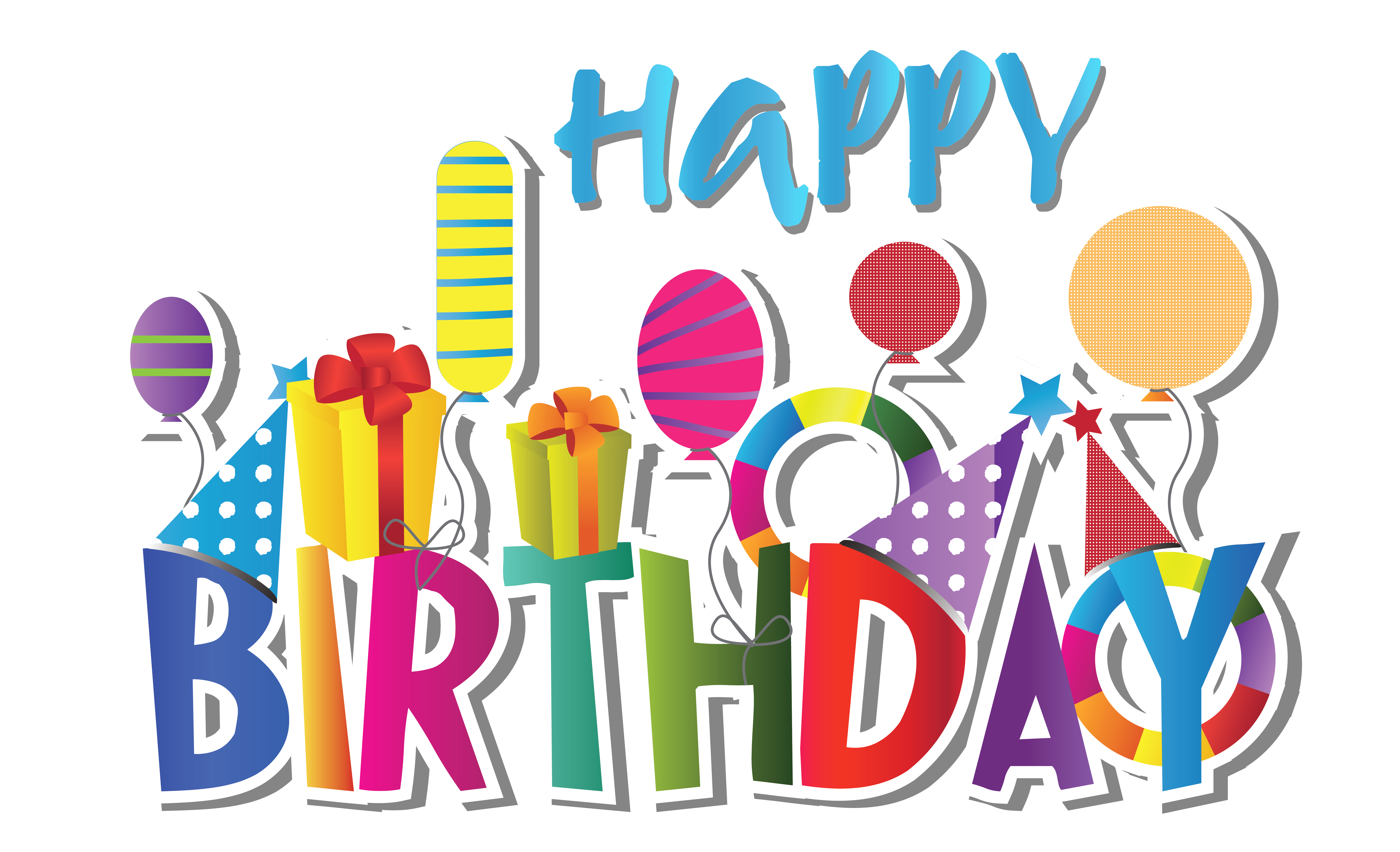 Clipart birthday svg black and white download Cute Happy Birthday Clipart | Gallery Yopriceville - High-Quality ... svg black and white download
