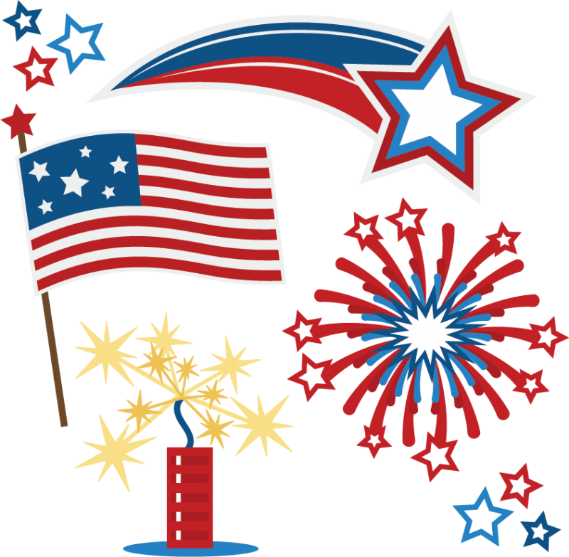 Summer flag fourth clipart banner transparent Free 4th Of July Fireworks Clipart, Download Free Clip Art, Free ... banner transparent