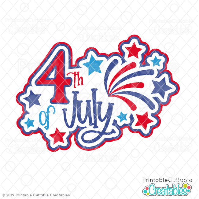 4 of july clipart silhoute clip free stock 4th of July Title SVG File & Clipart for Cricut & Silhouette clip free stock