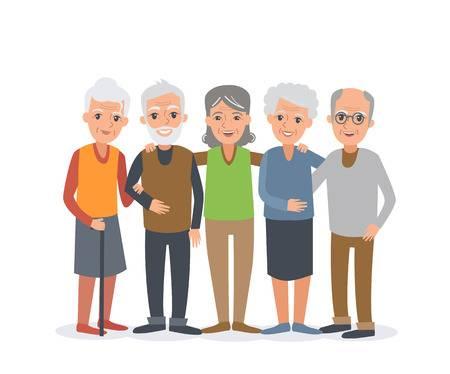 Senior citizen free clipart banner transparent download 66 114 Elderly People Stock Illustrations Cliparts And Royalty Free ... banner transparent download