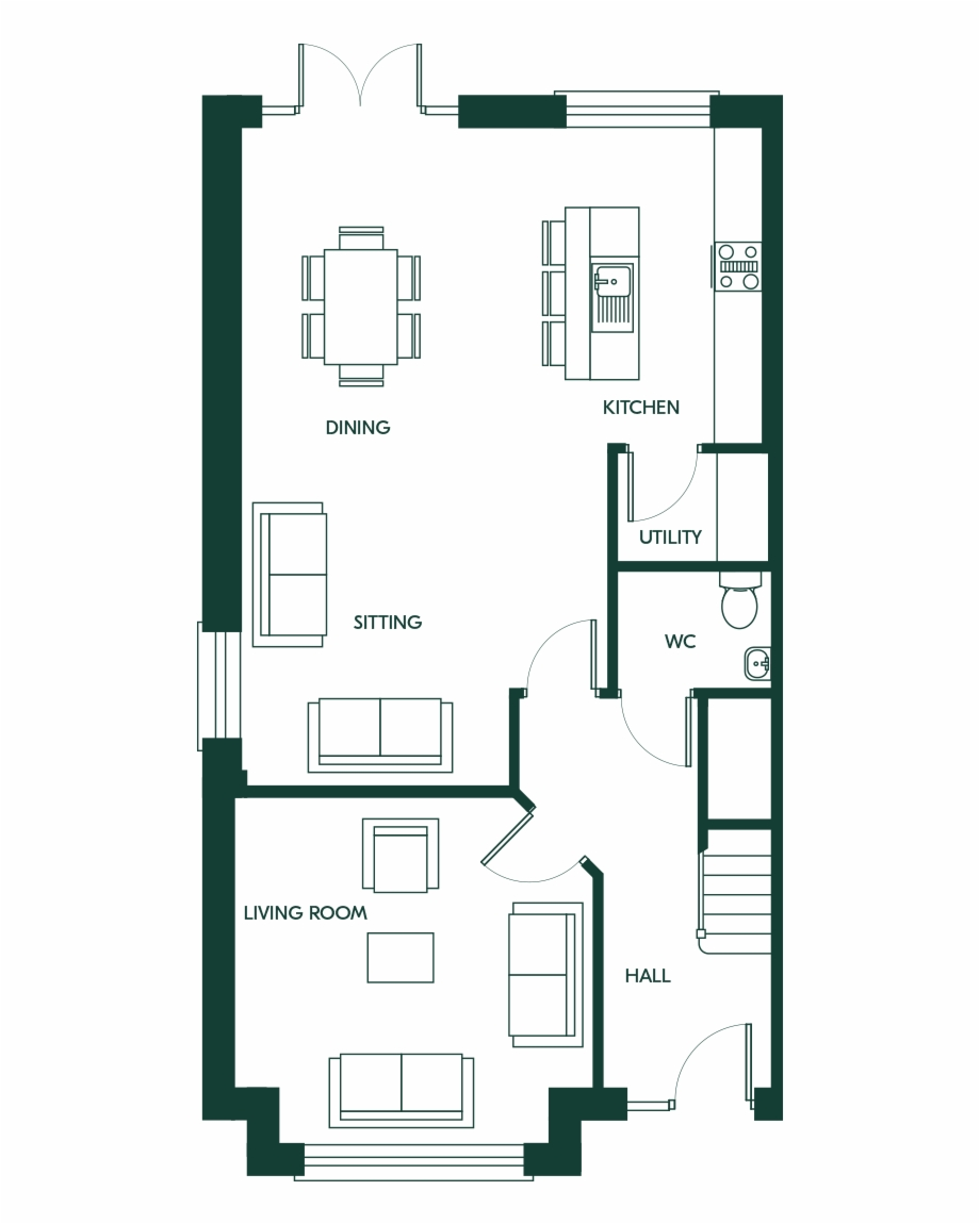 4 on the floor clipart jpg transparent download 4 Bed Semi Detached - Floor Plan Free PNG Images & Clipart Download ... jpg transparent download