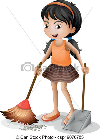 4 on the floor clipart freeuse download Girl sweeping the floor clipart 4 » Clipart Station freeuse download