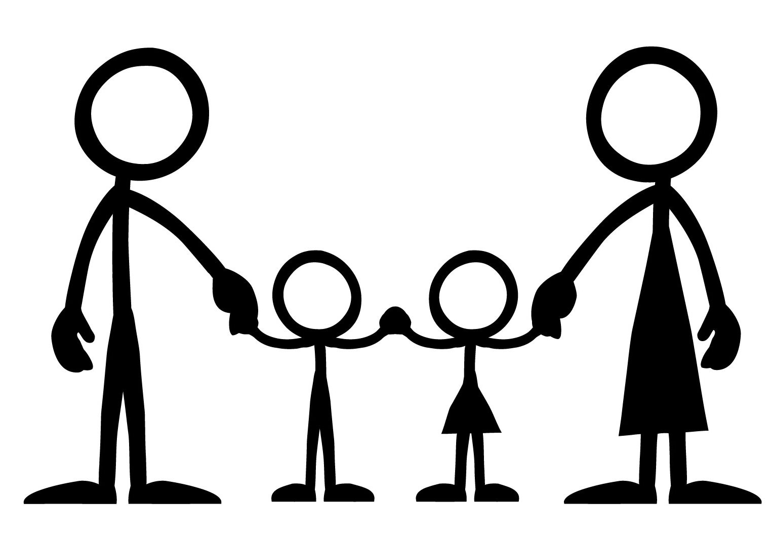 4 person family clipart picture black and white download 35+ Stick Figure Family Clipart | ClipartLook picture black and white download