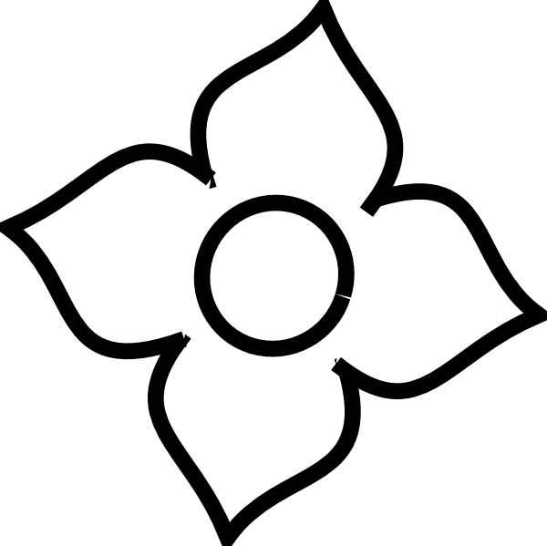 Petal flower clipart image black and white library Flower White Clip Art at Clker.com - vector clip art online, royalty ... image black and white library