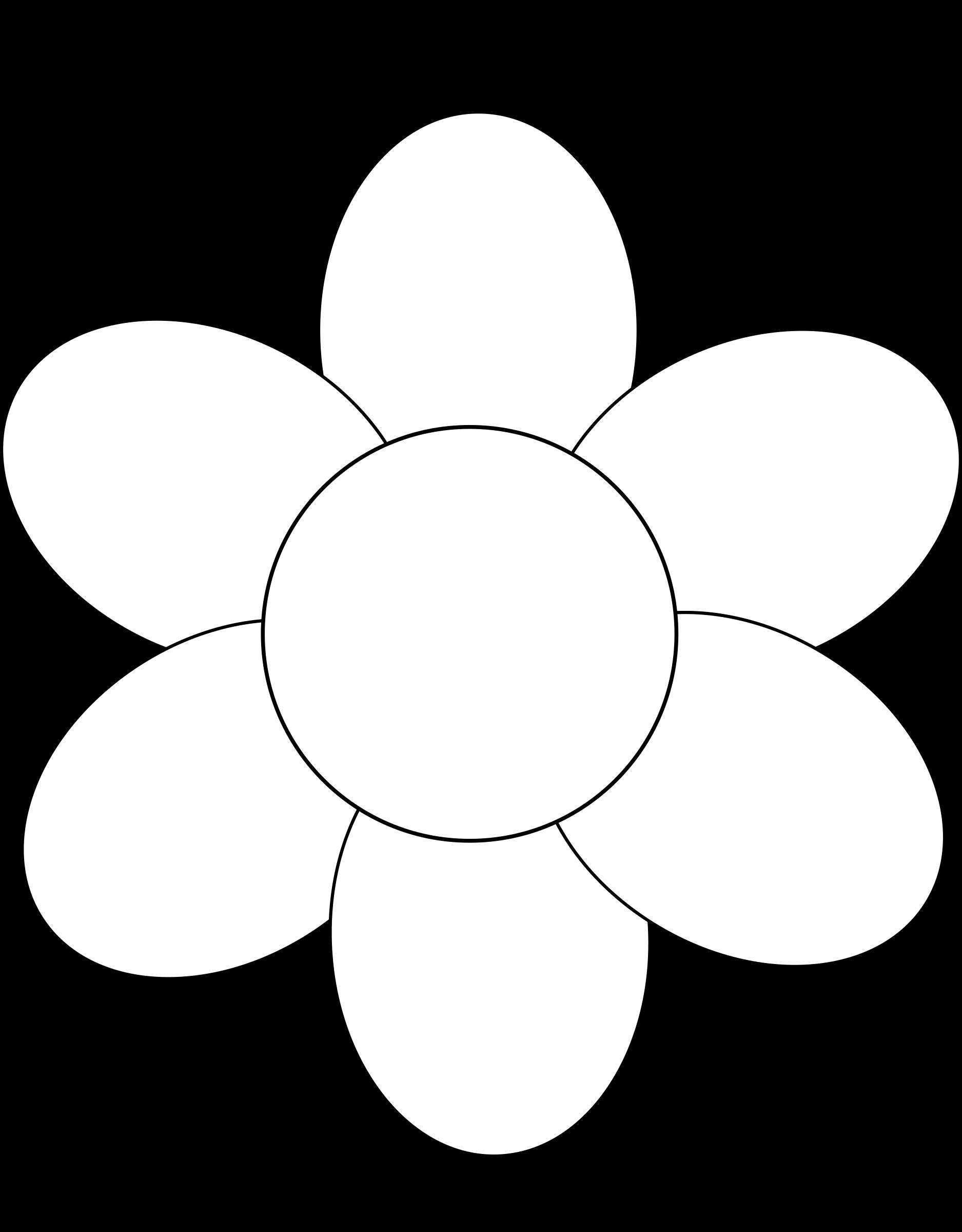 Blank flower clipart png transparent Flower Outline For Kids (53+) png transparent