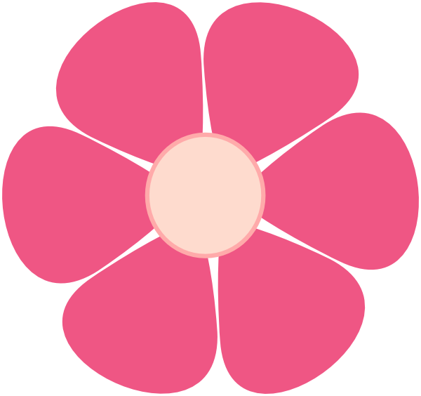 Pink clipart flower clipart library download Pink Flower Clip Art at Clker.com - vector clip art online, royalty ... clipart library download