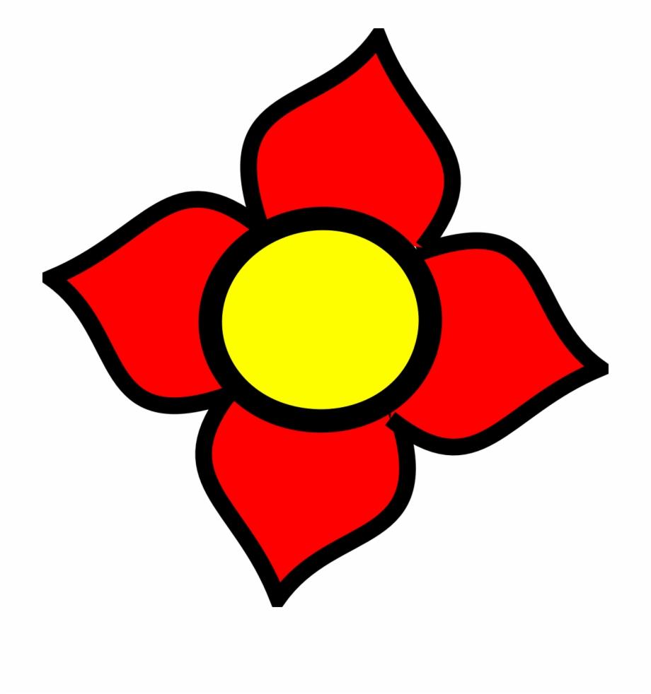 4 petal flowers clipart png library 4 Petal Flower Clipart Free PNG Images & Clipart Download #3758753 ... library