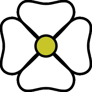 4 petal flowers clipart png svg freeuse White Flower Clip Art at Clker.com - vector clip art online, royalty ... svg freeuse