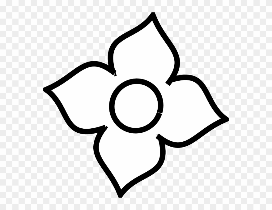 4 petal flowers clipart png clip royalty free stock Four Petal Flower Outline Clipart (#1430050) - PinClipart clip royalty free stock