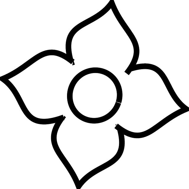 4 petal flowers clipart png clip art black and white library Four Petal Flower Outline , Transparent Cartoon - Jing.fm clip art black and white library