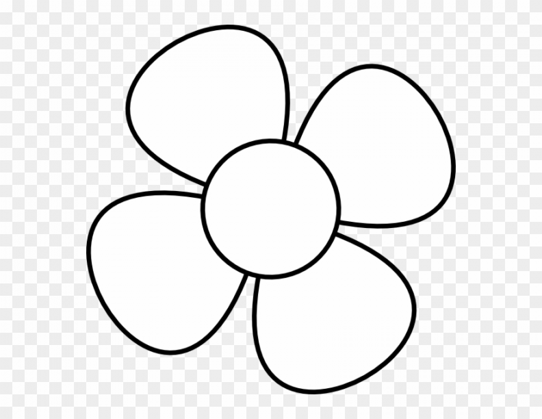 4 petal flowers clipart png svg transparent Flower Clipart Black And White – 9 Petal Flowers Clipart – Png .. svg transparent