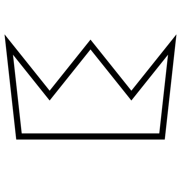Black and white clipart crown