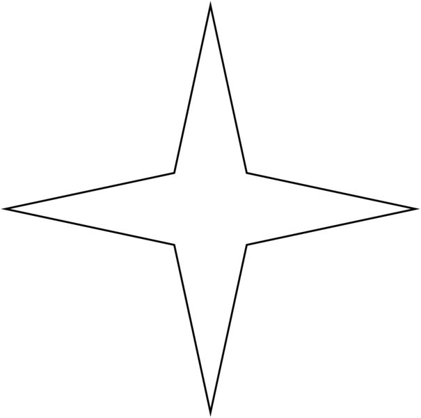 Four point star clipart banner black and white download 37 png 4 » PNG Image banner black and white download
