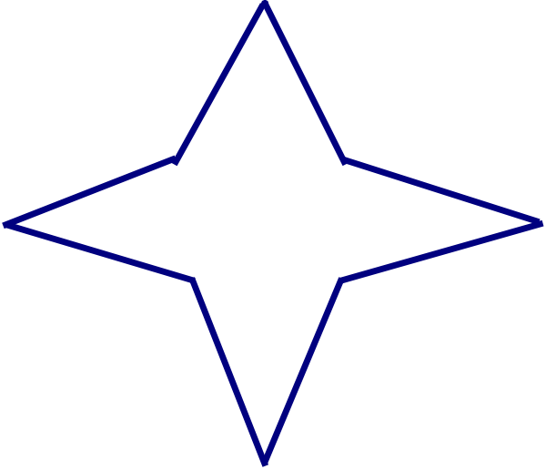 4 point star clipart clip art freeuse Blue Four-point Star Clip Art at Clker.com - vector clip art online ... clip art freeuse