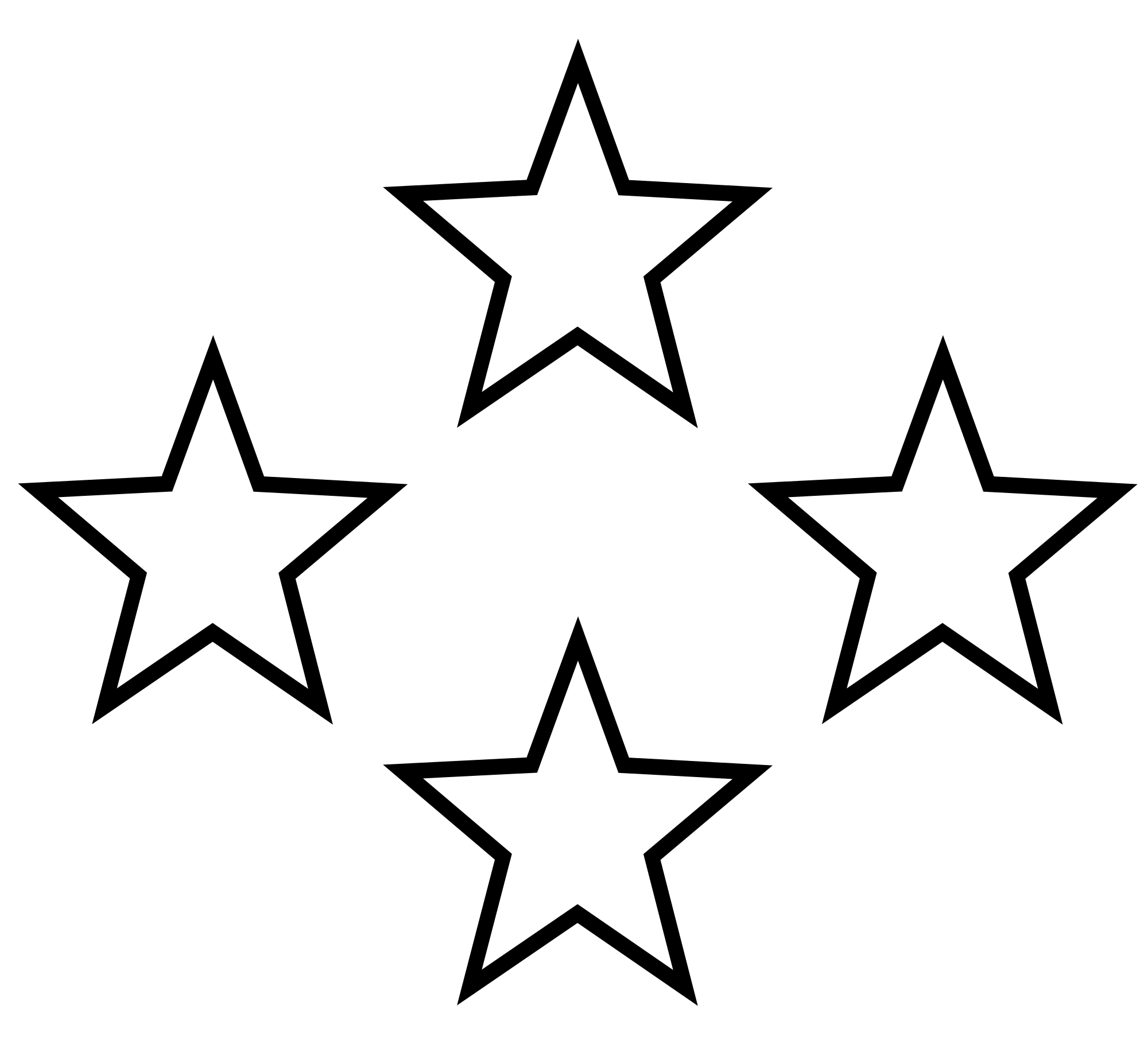 Black and white star clipart png clip black and white File:White Stars 4.svg - Wikimedia Commons clip black and white