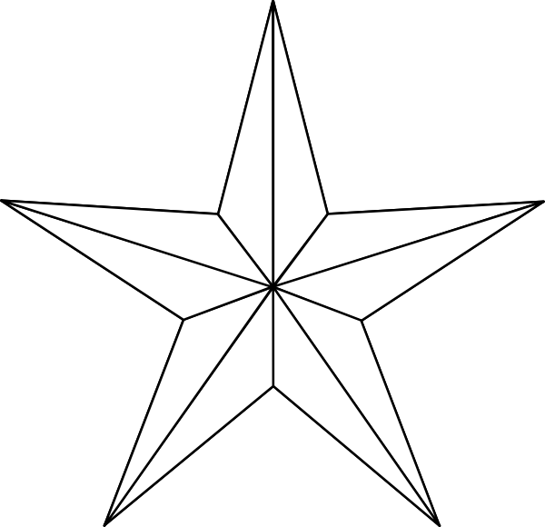 Star burst clipart black and white picture Star Clipart Black And White - Free Clip Art - Clipart Bay picture