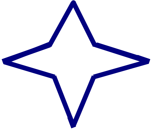 4 point star clipart banner freeuse library Blue Four-point Star Clip Art at Clker.com - vector clip art online ... banner freeuse library