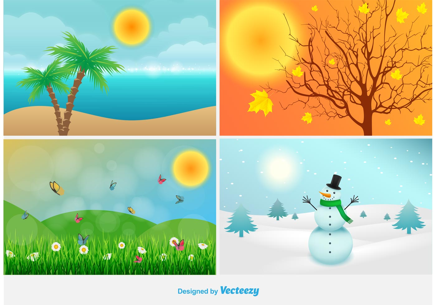 4 season clipart clip free library Four Seasons Free Vector Art - (38,269 Free Downloads) clip free library