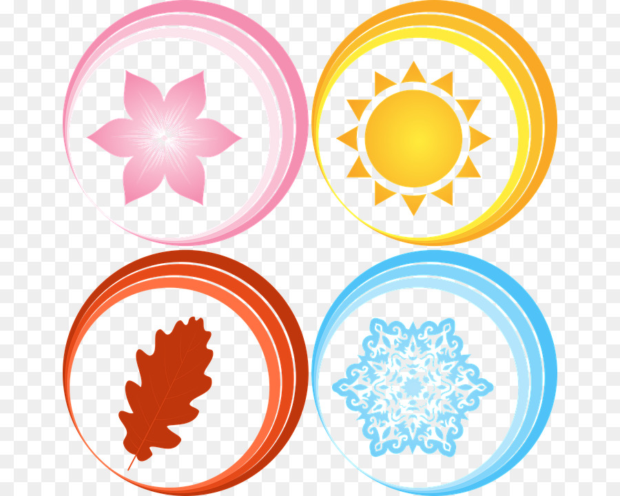 4 seasons icons clipart jpg transparent library Yellow Circle png download - 718*720 - Free Transparent Four Seasons ... jpg transparent library