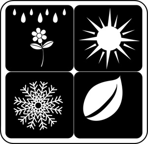4 seasons icons clipart clipart download Icons of the Four Seasons Including Spring, Summer, Winter and Fall ... clipart download