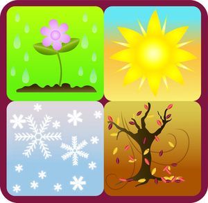 4 seasons icons clipart clipart library stock Clip art illustration of the four seasons depicted as icons ... clipart library stock