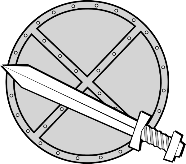 4 section shield clipart picture royalty free Sword and shield clipart free images 4 - ClipartAndScrap picture royalty free