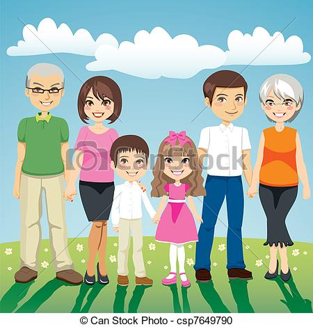 4 siblings clipart 3 boys 1 girl. Family illustrations and royalty