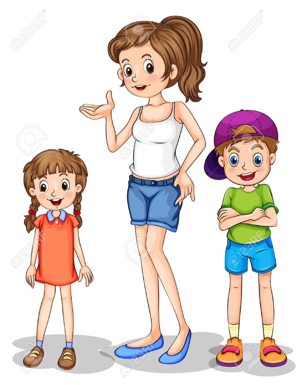 clipartfest and her. 4 siblings clipart 3 boys 1 girl