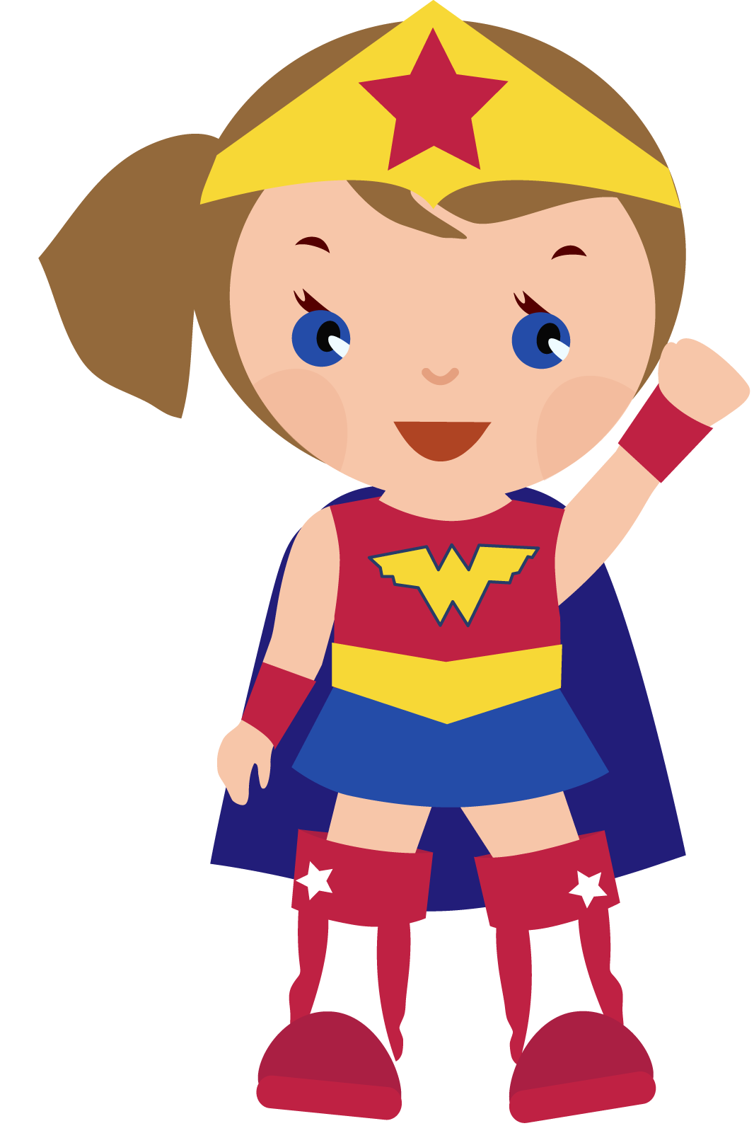 Superhero girl super hero. Female halloween clipart