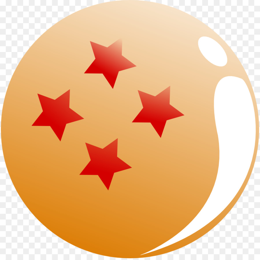 4 star dragonball clipart png black and white stock Dragon Ball clipart - Orange, Circle, Line, transparent clip art png black and white stock
