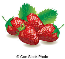 4 strawberries clipart image royalty free download Strawberries Vector Clipart | csp8925355 image royalty free download
