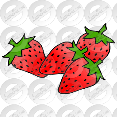4 strawberries clipart clipart black and white stock Strawberries Picture for Classroom / Therapy Use - Great ... clipart black and white stock