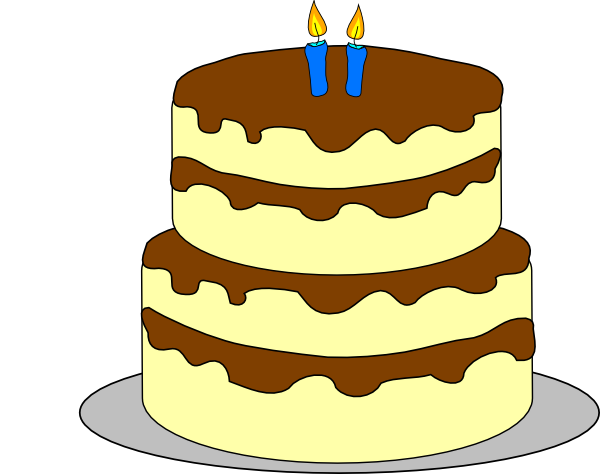 4 tiered cake clipart svg free 4 Layer Birthday Cake Clip Art at Clker.com - vector clip art online ... svg free