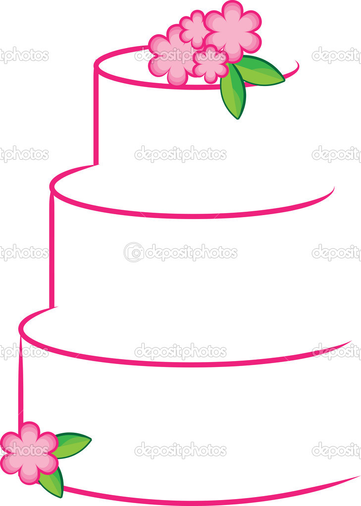 4 tiered cake clipart jpg black and white Tiered Cake Clipart | Free download best Tiered Cake Clipart on ... jpg black and white