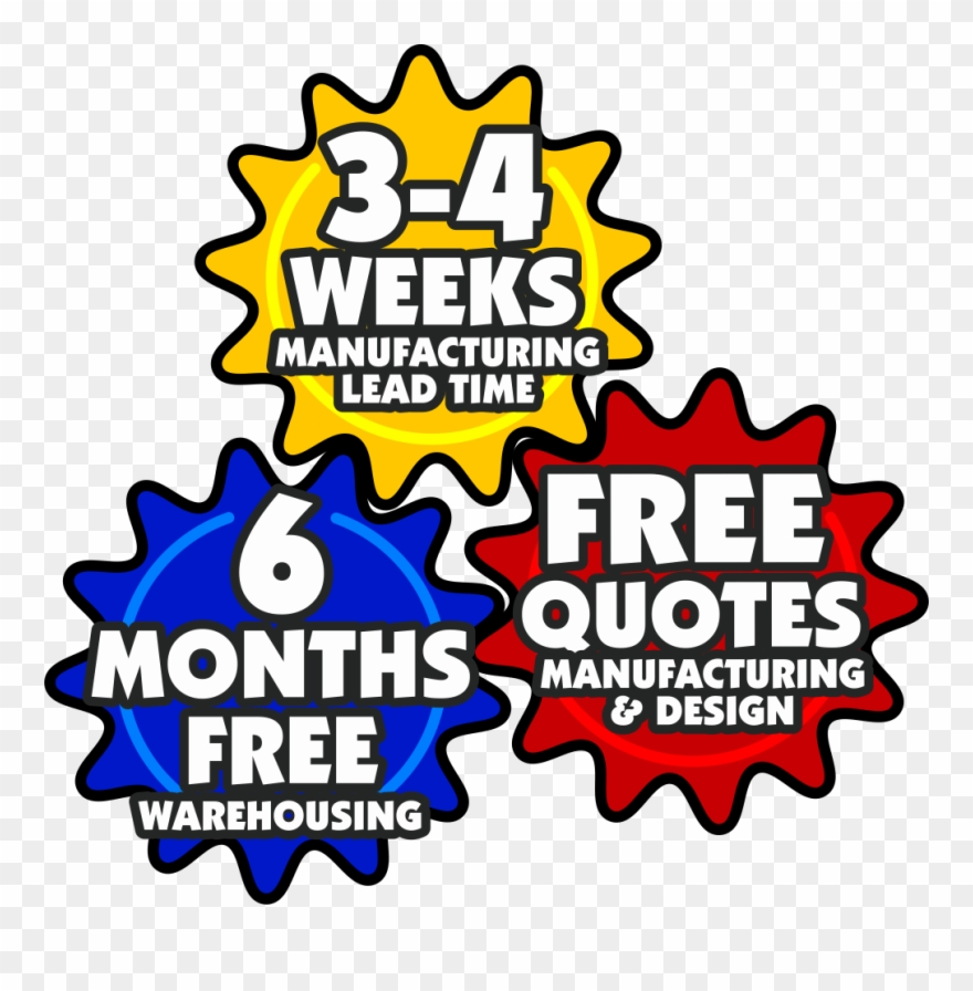 4 weeks clipart graphic 3-4 Weeks Lead Time For Game Manufacturing, 6 Months Clipart ... graphic