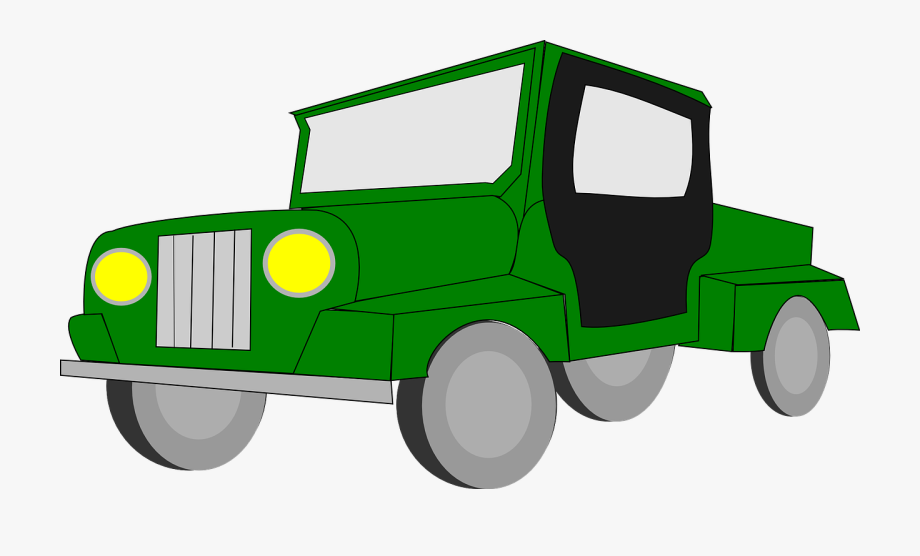 Tractor car wheels cliparts. Four wheel drive clipart
