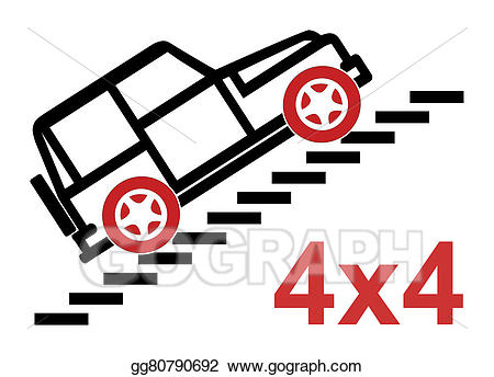 4 wheel drive clipart clipart freeuse library Drawing - Four wheel drive concept. Clipart Drawing gg80790692 - GoGraph clipart freeuse library