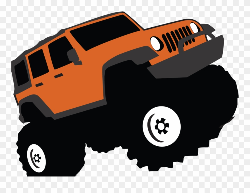Four wheel clipart image free Library 4 Wheel Drive Clipart - Off Road Vehicle Clip Art - Png ... image free
