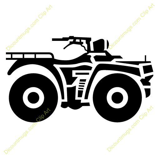 Four wheeler clipart. Atv all terrain wheelers