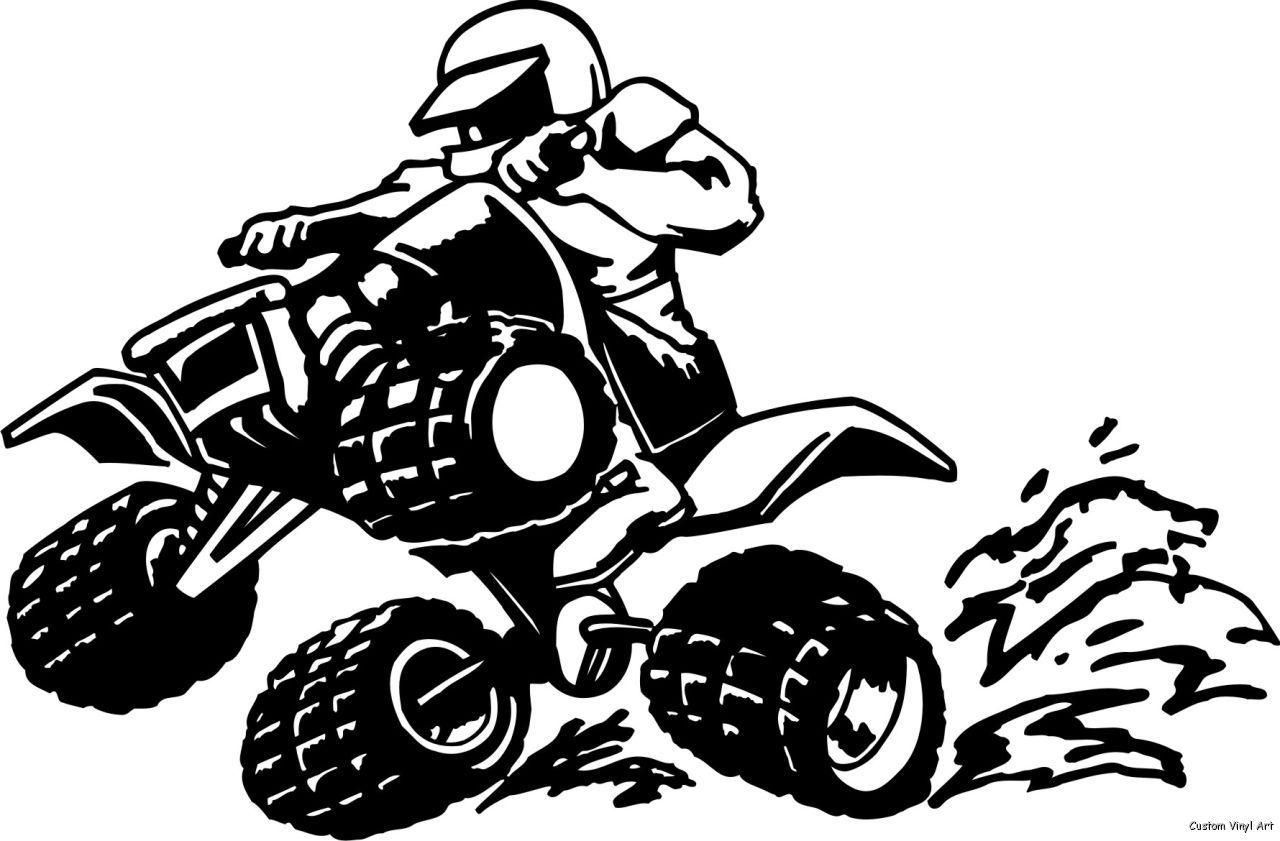 Atv mud clipart