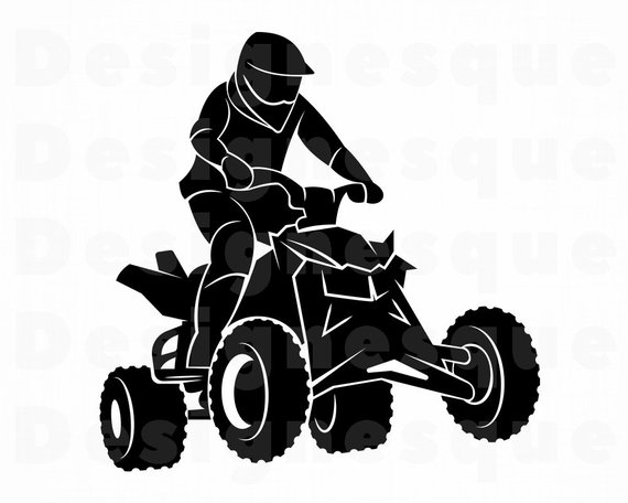 Four wheeler with flames clipart